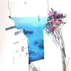 #Греция вид N4 #creece  by #NataliaKonovalova  #moremore #meer #sea #artfinder #art#painting #malen #kunst#искусство #17komnat