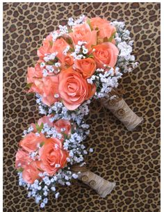 Custom Rustic Coral Reef Bridal Bouquet for by BridalBouquets