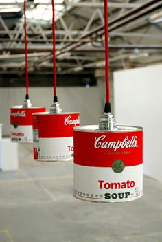 Fuse Can Lights. Tin can lighting meets pop art! Not sure where I'd apply this concept, but so fun to consider!