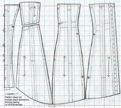 1910s corset pattern