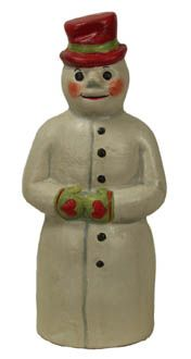 Snowman with Red Hat from Vaillancourt Folk Art