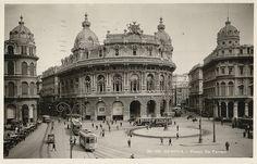 Cartoline antiche di Piazza De Ferrari, Genova