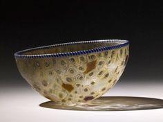 Cast polychrome millefiori glass bowl BC Roman (Source: The British Museum) Art Romain, Vases, Art Ancien, Art Of Glass, Roman History, Antique Glassware, Ancient Jewelry, Ancient Artifacts, Ancient Romans