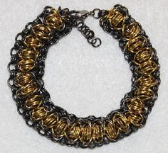 Chainmaillewristband made of golden and black von selfmadethings, €15.00