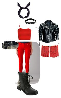 """""""Danger Angel 2"""" by ancatna on Polyvore featuring WearAll, 7 For All Mankind, Leka, yunotme and Karl Lagerfeld"""