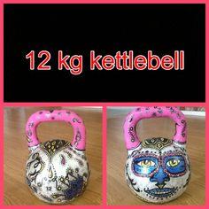 More 'big metal' feng shui creativeness!  Kettlebell Art & Creativity- Custom painted - Video Fitness Forum