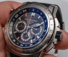"""Carl F. Bucherer Patravi Traveltec II Watch Hands On - by Zach Pina - See this 47mm GMT at:  aBlogtoWatch.com - """"Here's a fun fact: Carl F. Bucherer is one of the the oldest luxury watchmakers in Switzerland still wholly owned by its founding family – a feat that grows more and more impressive every year as the industry's original independents are measured in continually dwindling numbers. The Patravi Traveltec II is a product of the family's third generation of management..."""""""