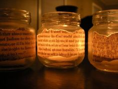 text jar candle holders