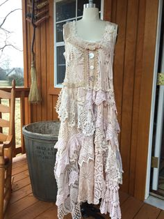 Hippie Style Clothing, Hippie Outfits, Lace Outfit, Lace Dress, White Lace Skirt, Shabby, Crochet Wedding, Romantic Outfit, Altered Couture