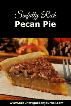 Hands down, Sinfully Rich Pecan Pie is one of my favorite dessert recipes. This is a family recipe that we have been using since the Delicious! Keto Pecan Pie Recipe, Homemade Pecan Pie, Vegan Pecan Pie, Best Pecan Pie, Southern Pecan Pie Recipe, Pecan Bars, Köstliche Desserts, Dessert Recipes, Pie Recipes