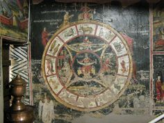 Zodiac fresco in a Church in Milies, Greece [another association between Christ (the sun) and the Zodiac (the path of Christ or the sun)]