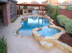 Having a pool sounds awesome especially if you are working with the best backyard pool landscaping ideas there is. How you design a proper backyard with a pool matters. Backyard Pool Landscaping, Backyard Pool Designs, Small Backyard Pools, Small Pools, Swimming Pools Backyard, Swimming Pool Designs, Outdoor Pool, Landscaping Ideas, Small Yards With Pools