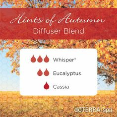 The doTERRA® Spa is welcoming the fall season with the Hints of Autumn diffuser blend. With a soft, musky aroma and a light touch of warm spice, this blend captures all the things we love about this time of the year. Make sure to come in to the doTERRA Spa this week for a massage and an aromatic experience that will have you feeling ready for the fall season!