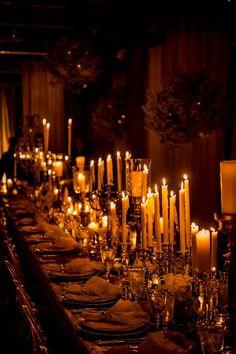 Stunning candlelit reception table, photo by Daniel Kudish of Davina+Daniel Reception Table, Wedding Table, Reception Backdrop, Wedding Receptions, Wedding Ceremony, Bridal Table, Backdrop Wedding, Banquet Tables, Rustic Wedding Decorations