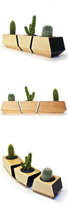 These planters are so cool and modern! Not to mention how great succulents look in your home while being super easy to care for! | Made on Hatch.co by independent makers & designers