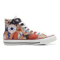 Scarpe Converse All Star personalizzate (Prodotto Artigianale) Japan Cartoon - TG45 - http://on-line-kaufen.de/make-your-shoes/45-eu-converse-all-star-personalisierte-schuhe-43