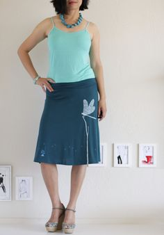 Hey, I found this really awesome Etsy listing at http://www.etsy.com/listing/152112239/womens-knee-length-teal-blue-a-line