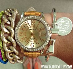 Monogrammed German Silver Bow Bracelet | Marley Lilly