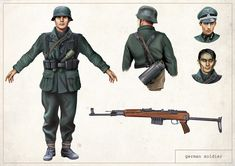 German Soldier concept art for 'Reliquary'.