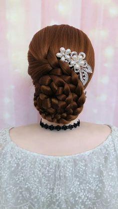 Hairdo For Long Hair, Bun Hairstyles For Long Hair, Bride Hairstyles, Headband Hairstyles, Black Wedding Hairstyles, Hairstyle Braid, Heatless Hairstyles, Braided Bun Hairstyles, Beautiful Hairstyles