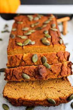 One bowl, healthy Paleo pumpkin bread made with coconut flour, natural sweetener.One bowl, healthy Paleo pumpkin bread made with coconut flour, natural sweeteners and wholesome ingredients for the perfect fall treat. Fall Recipes, Whole Food Recipes, Cooking Recipes, Bread Recipes, Cookbook Recipes, Recipes Dinner, Paleo Sweets, Paleo Dessert, Paleo Pumpkin Bread