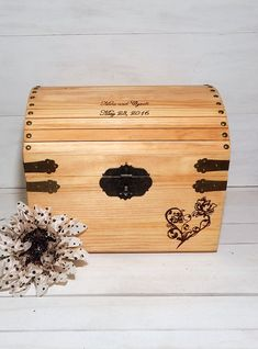 Wedding Card Box, Memory Box, Keepsake Box, Advice Box, Rustic Wedding, Card Boxes, Wedding Shower Gift, Gifts For the Couple, Chic