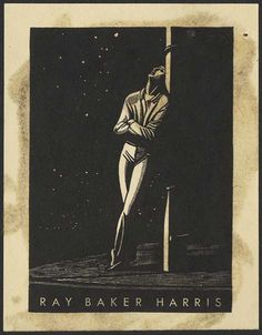 ray baker harris bookplate this looks like a Rockwell Kent piece
