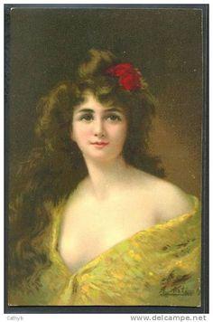 JS41 a/s Angelo ASTI BEAUTIFUL LADY Long HAIR Fine LITHO KF