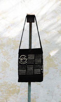 Black and White Mud Cloth Bag, Boho Tote, Bohemian Style Bag, Travel tote, Gypsy style, Mud Cloth tote, Black and White Mudcloth Tote,