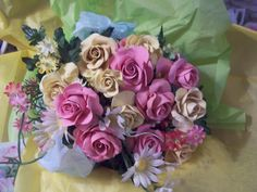 Clay Rose Bouquets