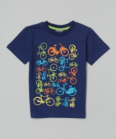 Navy Bicycle Tee - Infant, Toddler & Boys on #zulily! #zulilyfinds