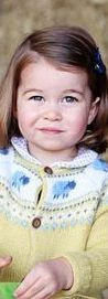 The new image of the young royal wearing a floral blouse was taken by the Duchess of Cambridge to mark her daughter's second birthday.