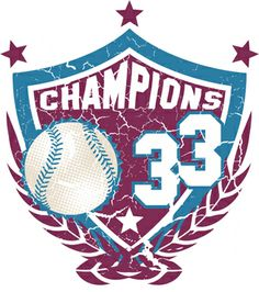 Champions 33 Baseball Graphic is completely and instantly customizable in CorelDraw or Illustrator! Baseball Vector, Coreldraw, Vector Design, 4th Of July Wreath, Shirt Style, Champion, Shirt Designs, Illustration, Prints