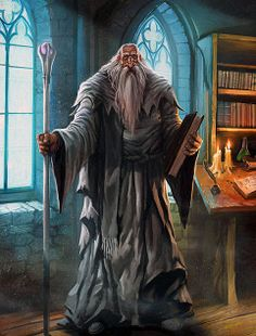 m Old Wizard hilvl Tower Urban City Library story Fantasy Wizard, Fantasy Male, Fantasy Rpg, Medieval Fantasy, Dnd Characters, Fantasy Characters, Character Inspiration, Character Art, Fantasy Inspiration
