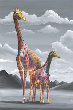 "MOARRR - Fun and playful ""Pop Surrealist"" paintings... Arte Girafa fd52601e082"