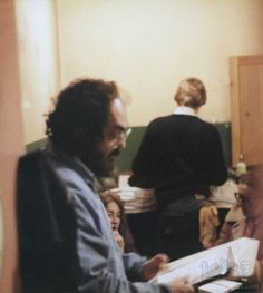 Director Stanley Kubrick on the set of The Shining.