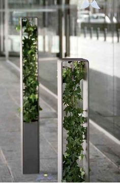 Unbetitelt bollard with planter<br> Parks Furniture, Urban Furniture, Street Furniture, Furniture Legs, Garden Furniture, Furniture Design, Furniture Removal, Concrete Furniture, Green Architecture