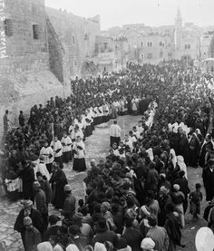 A Catholic bishop arrives for Christmas services;  1915 in Ottoman Jerusalem.  #Christian #Orthodox #Jesus #Mary #Mysticism #Mystic #Spirituality #Catholic #Protestant