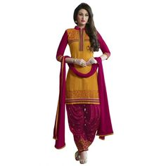 cotton Embroidery unstitched suit