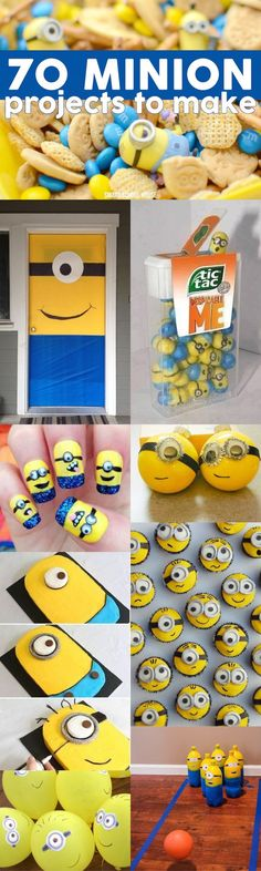 70 Minion Projects to Make! Lots of tutorial recipes, crafts and more!