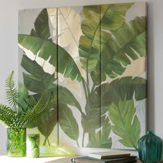 Shop Palm Leaf Carved Wall Art, Set of 3 from Legends Of Asia at Horchow, where you'll find new lower shipping on hundreds of home furnishings and gifts. Easy Canvas Art, Easy Canvas Painting, Deco Jungle, Art Corner, Print Wallpaper, Wall Art Designs, Home Decor Wall Art, Wall Murals, Flower Art