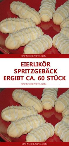 Eggnog shortbread biscuits make about 60 pieces - meins Lecker Tasty Dishes, Food Dishes, Baking Recipes, Cookie Recipes, Breakfast Potato Casserole, Shortbread Biscuits, Food Menu, Easy Cooking, Tray Bakes