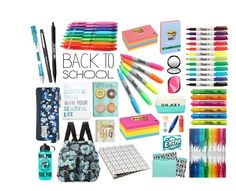 """""""school supplies"""" by inksty ❤ liked on Polyvore"""