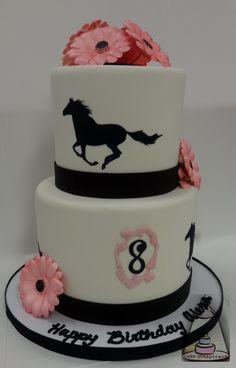 Horse Silhouette Birthday Cake