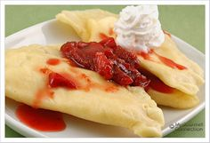 Sweet Dessert Pierogi with Strawberry Sauce Recipe from MyGourmetConnection