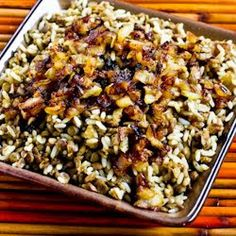 Kalyn's Kitchen®: Recipe for Mujadarra (Middle Eastern Lentils and Rice with Caramelized Onions)
