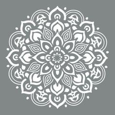 DecoArt Americana Decor 10 in. Mandala - The Home Depot - design - DecoArt Americana Decor 10 in. Mandala – The Home Depot - Stencils Mandala, Stencil Art, Stencil Designs, Stenciling, Floor Stencil, Stencils For Painting, Lace Stencil, Stenciled Floor, Mandala Design