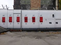 'How many switches do you need to turn on a socket? [London, UK (close up) Street Artists, Urban Art, Spanish, London, World, Outdoor Decor, City Art, Street Art, Spain