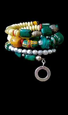 Tribal+BOHO+Bracelet+++Chunky+Memory++by+TheJoyMoosCollection,+$110.00