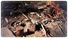 Cup of tea in the #oldstyle. Fire started with #flintandsteel and #slowmatch…